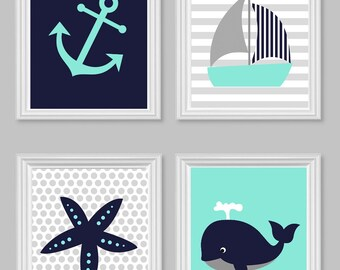 Nautical Nursery, Nursery Wall Art, Gender Neutral Nursery, Sailboat Nursery, Whale Nursery, Baby Sailboat Room, Sailboat Wall Art, Canvas