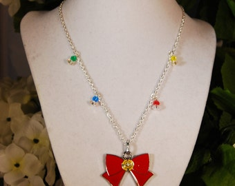 Sailor Moon Inspired Bow Necklace