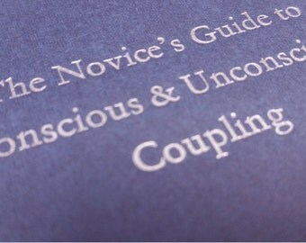 Coupling - Small Funny Letterpress Journal, Jotter, Cahier, Moleskine - A6 Ruled Notebook