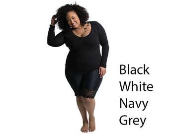 Lace Rash Guard Bike Shorts - Black, White, Navy, Grey