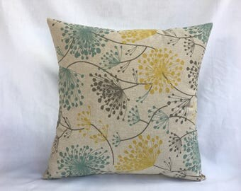 Toss Pillow Cover (2) - Yellow and Gray Pillow Covers for Couch