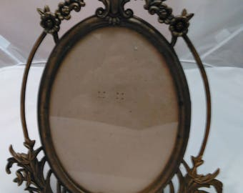 Victorian style reproduction Large Vintage metal picture frame