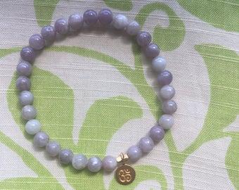 Ruby Quartz (lavender) Om bracelet