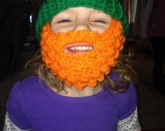 Leprechaun Beard Hat- Newborn-Adult sizes