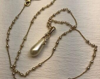 Nolan Miller pearl pendant