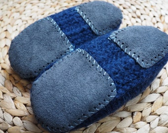 Upcycled Leather Slipper Soles