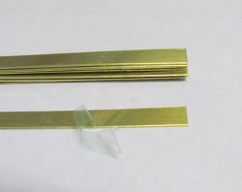 1/4 x 6 -18G -  Brass  Bracelet Cuff Blanks - metal strips for bracelets -  Easy to hand stamp on
