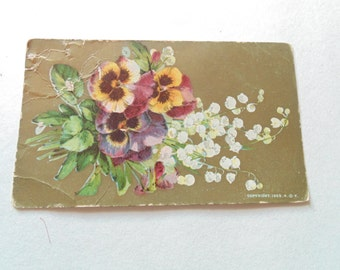 Antique 1900's Postcard Antique Postcards Floral Postcard Antique Ephemera