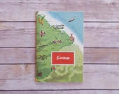 Surinam Around the World Program Series Travel Booklet Tourism Book Suriname 50s Vintage Green Topography Country History World Nat Geo Book