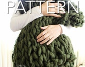 "50% OFF! Knit Blanket Pattern // Chunky Blanket // Arm Knit Blanket // Beginner's Pattern // Simply Maggie // 60"" by 36"""