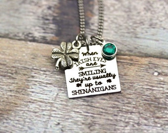 Irish Eyes Charm Necklace Set