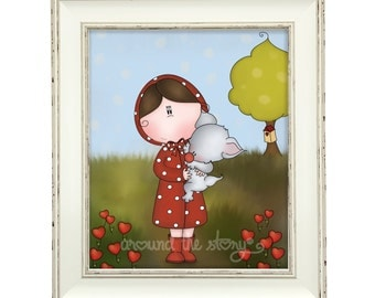 Little red riding hood - A5 Giclée print