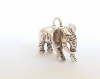 Elephant gift, elephant necklace, silver elephant, elephant jewellery, safari jewelry, African jewelry, big five jewelry, handcrafted