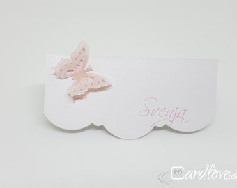 Place cards & table map Butterfly