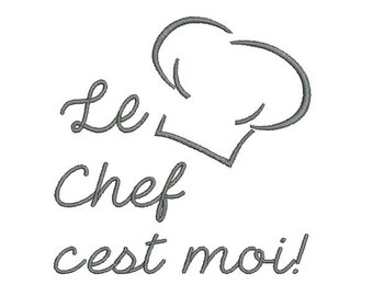 Instant download   Machine Embroidery  Toque chef