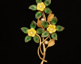 Yellow Flowers Pin by Art