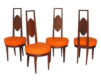Mid-Century Modern Dining Chairs, S/4