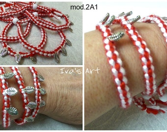 "Handmade Martenitsa,Bracelet,Bulgarian Tradition ""Baba Marta"",First of March, Handmade in the US,The Price per One Martenitsa, 5 Models Here"