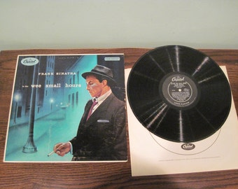Frank Sinatra LP In The Wee Small Hours original black label Mono Capitol W-581