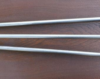Steel Hairpin Table Legs, 35 Inch 3 Rod, (set Of 4) 7