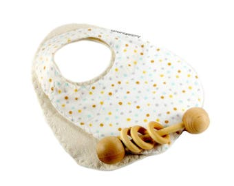 Baby gift under 20, organic baby set, polkadot baby gift, newborn bibs, ecofriendly bib set, organic infant bibs, organic newborn set,