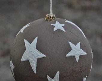 "Christmas bauble ""White stars"""