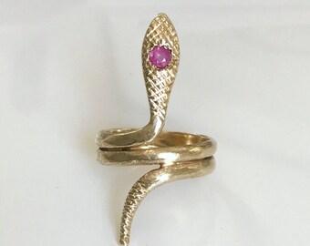 Vintage 14k Snake Ring