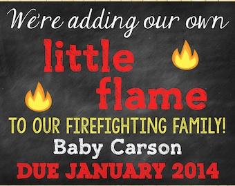 Fireman Pregnancy Reveal // Pregnany Announcement // Photo Prop // Fireman // Firetruck // Fire Fighter