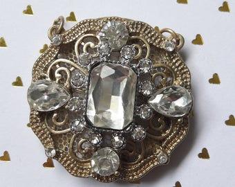 Ornate Jewel Two-Loop Pendant Jewelry Supplies