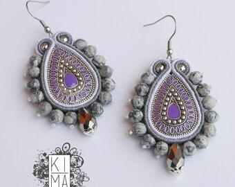 Soutache earrings handmade in Italy by KIMA OOAK