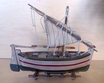 Model boat Vintage model fishing sailing boat Wood boat Nautical model