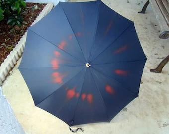 Polan Katz umbrella, Vintage PK Umbrella, vintage Polan Katz ladies umbrella