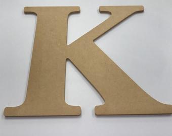 """Greek Letter """"Kappa"""" MDF Wood 10"""""""