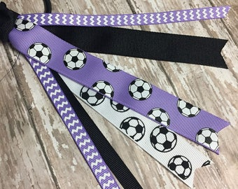 Soccer Ponytail Streamers, Soccer Ribbons, Soccer Team, Pick Team's Colors -