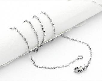 Stainless Steel Chain, Bulk Chain, Jewelry Making Chain, Fine Chain, Hypoallergenic, 0.6mm Links,