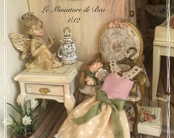 1/12 dress and hanger miniature-dolls house-hand made by Bea