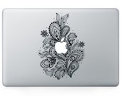 Macbook 13 inch decal sticker feather and apple art for Apple Laptop