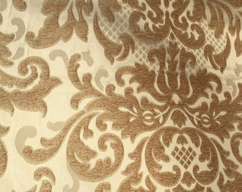 Gold chenille pillow cover