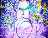 Limited Edition Joyful Snowman Holiday Cards with Envelopes with Preorder Bonus!