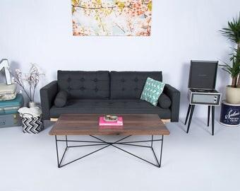 "Modern Coffee Table, Coffee Table, Industrial, Hairpin Leg Coffee Table, Minimalist, Midcentury Modern ""The Miami"""