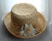 Vintage Straw Hat - Street Smart by Betmar Straw Hat - Sun Hat Beach Hat Vintage Accessories