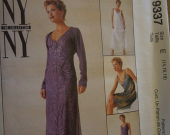 McCalls 9337, size 14-18, UNCUT sewing pattern, craft supplies, dress with slip and shrug, misses, womens