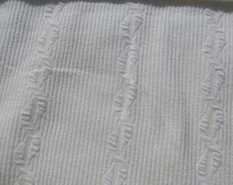 Textured White Fabric