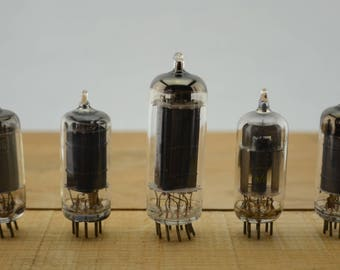 5 Vintage Vacuum Tubes - Electronic Parts Radio Tubes TV Tubes Amplifier Tubes Industrial Parts Collage Steampunk Art Supply E5-2