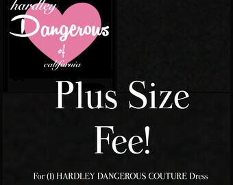 PLUS SIZE Swing Dress Fee for (1) custom handmade to order Hardley Dangerous Couture Dress or Top