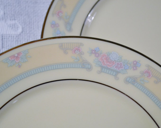 Lenox Fairfield Bread Plate Set of 4 Floral Design Gold Back Stamp USA Replacement Panchosporch