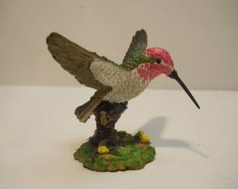 Hummingbird with Floral Decorative Figurine Statue n378