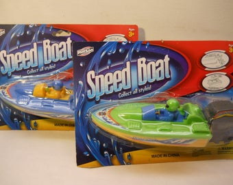 Speed Boat Fun Water Toys Pretend Play Vintage Ty284