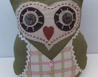 Owl Cushion, Decorative Cushion, Handmade, Gift for Her