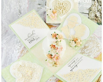 Handmade Wedding exploding box card